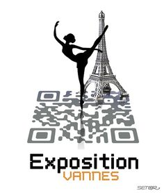 EXPOSITION VANNES (France) Winner of the Exposition Design Competition. Custom QR Code design by www.setqr.com In collaboration with BookBeo http://www.bookbeo.com