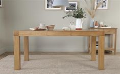 Cambridge Oak Extending Dining Table with 4 Bewley Ivory Chairs Only £599.99 | Furniture Choice