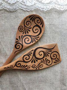 Spoon Art, Art Ideas, Decor Ideas, Wood Burning Art, Wood Burner, Matching Set, Woodburning, Coffee Art, Soldering