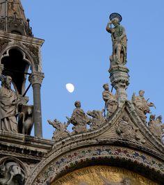 Moon rising over San Marco