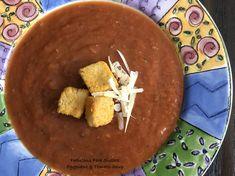 Eggplant & Tomato Soup – Fabulous Fare Sisters Hearty Vegetarian Soup, Processed Sugar, Tomato Soup, Good Job, Eggplant, Vitamins, Sisters, Lunch, Food