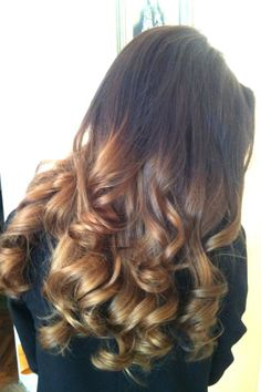 Ombre curls.