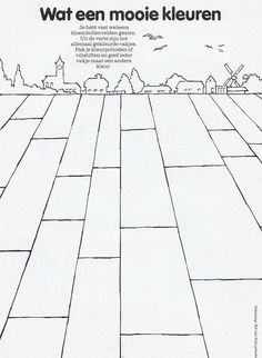 cute idea Tulip Fields, Drawing For Kids, Zentangle, Tulips, Holland, Coloring Pages, Perspective, School, Circuit