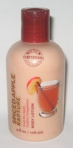 Bath  Body Works Temptations Spiced Apple Rapture Body Lotion 4 oz 118 ml ** Click on the image for additional details.
