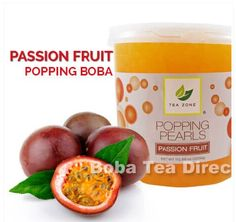 Try Passion Fruit Popping Bursting Boba in traditional Taiwanese bubble tea drinks, frozen yogurt or any dessert you wish! You can buy it from our online shop!