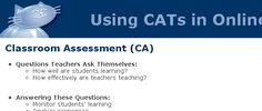 Using CATs in Online Courses