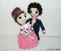 Wedding gift Bride and Groom crochet Wedding figurines