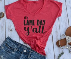 Its Game Day Y all shirt- football shirt- game day shirt- tailgating shirt-  football season- womens football shirts- fall tshirts- womens 322e0ff7f881d