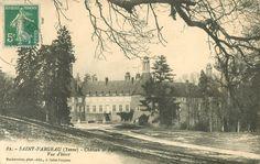 Saint-Fargeau - Le château et le Parc. Vue d'hiver.