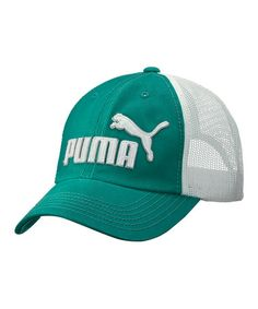 Take a look at this Bluegrass Frat Girl Washed Mesh Baseball Cap - Women & Men by PUMA on #zulily today! $15 !!