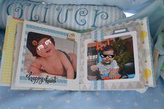 mini álbum de scrapbook para bebé baby