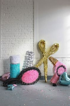 Love these DIY beauty product piñatas.