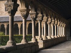 Romanesque Cloister. Cathedral of Seu d'Urgell. Spain. Fine Art Photograph available in different sizes