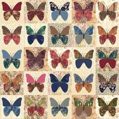 """Laundry Basket Quilt of the Day - """"Butterflies"""" #quiltoftheday   #butterfly #laundrybasketquilts #edytasitar #quilting  LOVR LOVE LOVE this quilt!"""