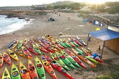 #Kayaking in groups in Ibiza. Beautiful.