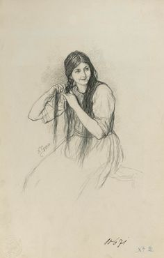 "(Nikolaos Gyzis), ""Greek Girl Braiding her Hair"" Greek Drawing, Greece Painting, Wolves And Women, Greek Girl, Girl Sketch, 10 Picture, Drawing Skills, How To Draw Hair, Gravure"