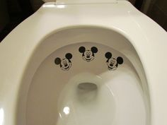 Ha ha ha - this is just funny!   Boy Mickey Mouse Toilet Targets by LilMrsCrafty on Etsy, $5.50
