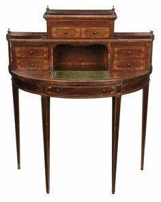 Hepplewhite Inlaid Demilune Writing Desk - Price Estimate: $400 - $700