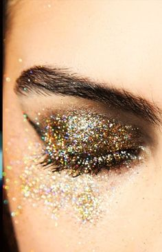 #StocksyTip New Year's: Party make-up closeups... (keep it simple)