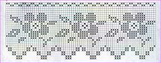 Filet crochet edging flowers & leaves with points ~~ Dečky, porty