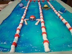 Swimming Pool Cake Designs | Cake Designs by Janie - Bedford Wedding Cake