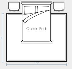 Area Rug Placement and Size for Queen Bed Option 2 | Satori Design for Living