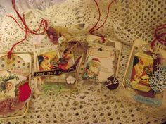 Hand Made Christmas Gift Tags Hang Tags Tree Ornament by mslizz