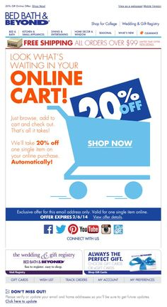 Shopping Cart Abandonment Emails- great deals!