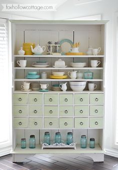 Top Of Cabinet Decor Awesome Cottage Kitchen Apothecary Cabinet A Sensible Storage solution Furniture Makeover, Diy Furniture, Top Of Cabinet Decor, Kitchen Decor, Kitchen Design, Top Of Cabinets, Magical Home, Home Decor Shelves, Cottage Style