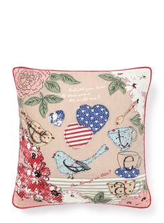 Vintage bird cushion BHS £20