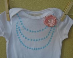 Necklace onesie in pastels for Spring...could be a nice DIY
