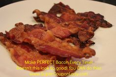 How to make PERFECT #BACON!!!!! So easy, ❤ This!