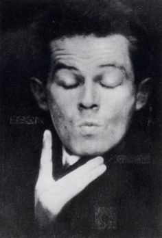 Egon Schiele, Photographic self-portrait with eyes closed, 1914