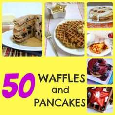 50 Waffles and Pancakes - Something Swanky:: OH My Goodness! I wanna try pretty much ALLL of these! Crepes And Waffles, Breakfast Waffles, Sweet Breakfast, Breakfast Dishes, Breakfast Recipes, Breakfast Ideas, Breakfast Time, Breakfast Plate, Brunch Ideas