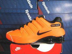 Mens Nike Shox, Nike Shox Shoes, Nike Men, Nike Casual Shoes, Casual Sneakers, Shoes Sneakers, Orange Sneakers, Cheap Nike Shoes Online, Nike Shoes For Sale