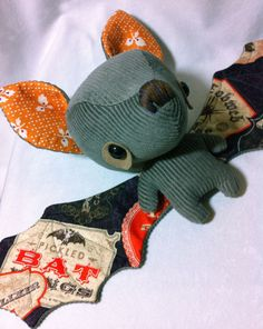 Grey Halloween Batty. Sewing Stars, via Etsy.