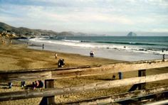 I love how when I wak up this is the only beach I walk on to make the day a good one!  Morro Rock from the Cayucos pier
