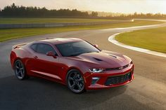 The Chevy Camaro has just won the latest battle in the muscle car wars. Here's how the Camaro has overtaken the red-hot Mustang. Chevrolet Camaro 2015, Chevy Camaro, Camaro 2016, Red Camaro, Volkswagen, Vw T, Ford Mustang, Buick Regal, Citroen Ds