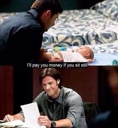 Dean's parenting skills--6x02 Two And A Half Men