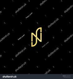 Initial Letter Ns Sn Nj Jn Minimalist Art Logo Gold Color On Black Background Sponsored Sn Nj Jn Initial Logo Design Art Letter Logo Design Lettering