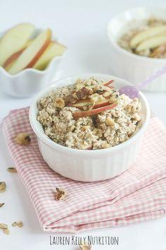 Apple Pie Overnight Oats | Lauren Kelly Nutrition #glutenfree #dairyfree #vegan