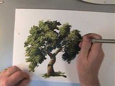 Painting trees may seem formidible. Here is a video produced by artist Sheldon Borenstein. More info on his site: http://www.sheldonsartacademy.com/home.php