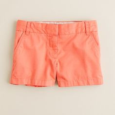 """3"""" chino short in ornament orange from j.crew. This color also looks really good with all skin tones."""
