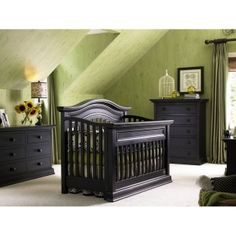 Check Out Bonavita Sheffield Nursery Lifestyle Crib Set Pieces Color Distressed Black Yourway