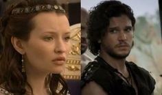 Emily Browning and Kit Harington in Pompeii(2014)