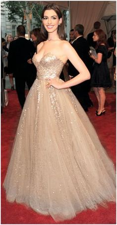 Gold Sparkles Gown <3 THIS NEEDS TO BE WHITE! IT WOULD BE PERFECT.