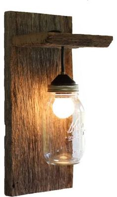 Barn Wood Mason Jar Light Fixture Without Rope Detail Rustic Wall Sconces Grindstone Design