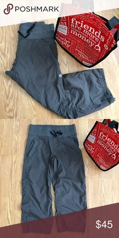 Lululemon crops Gray lululemon crops. Light weight swift fabric, has a drawstring at the waist and at the bottom of the legs. EUC. Comes with a lululemon shopping bag! lululemon athletica Pants Capris