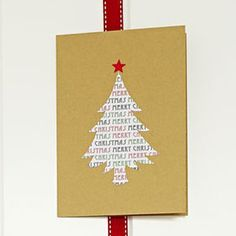 Wish everyone a mass of Merry Christmases with this Christmas tree card. Find hundreds more Christmas craft ideas on allaboutyou.com: free Christmas patterns, gifts and cards to make, Christmas cooking and much, much more…