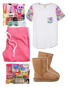 """""""GoodNight Polyvore ♡"""" by prettygirlnunu ❤ liked on Polyvore featuring Victoria's Secret PINK, UGG Australia and H&M"""